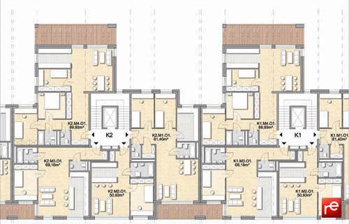Zespół Apartamentowy Angielska Grobla, Gdańsk - fragment rzutu