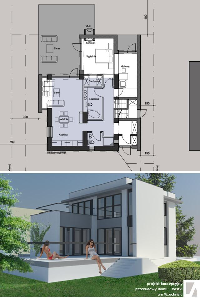 rozbudowa domu projekt - solidnyarchitekt.pl