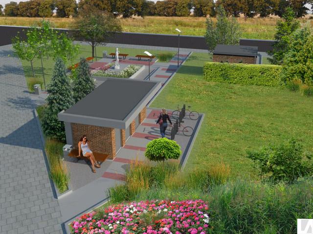 Park w Rewalu, koncepcja