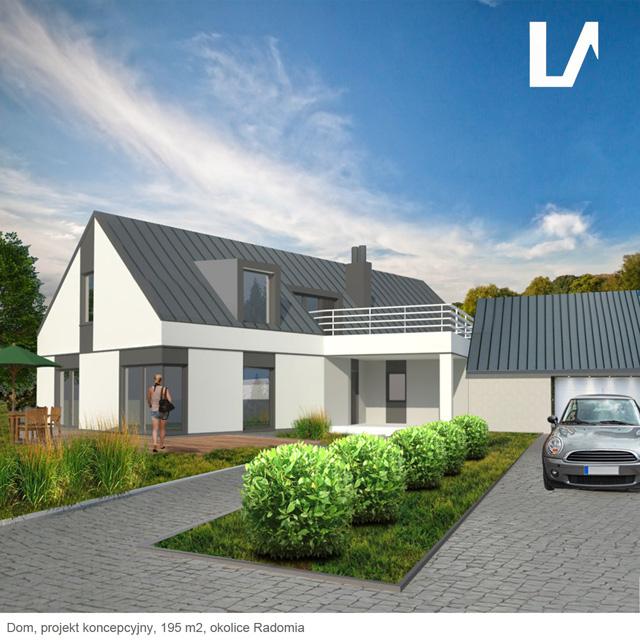 projekt domu Radom, rozbudowa, Lenartowicz Architekt