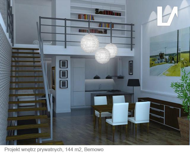 Apartament dwupoziomowy, projekt wnętrza Lenartowicz Architekt