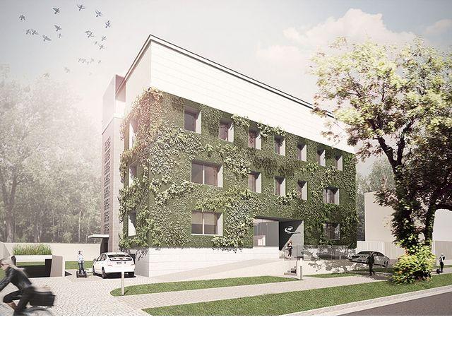 Fundacja na rzecz Nauki Polskiej - siedziba - ogórd pionowy