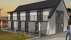 projekt elewacji pensjonatu Lenartowicz Architekt